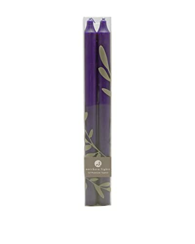 Northern Lights Candles Set of 2 Purple Tapers