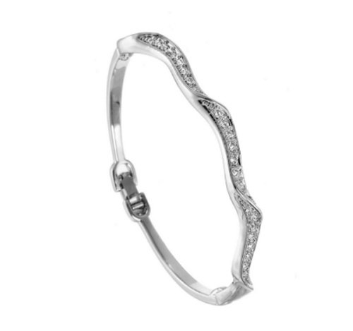 Ladies' Crystal Bangle, Rhodium Plated, Model 8289, by Oliver Weber