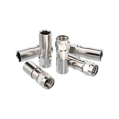 Ideal 92-656 Rg-6 Rtq F-Compression Connectors, 100 Pk (Audio Video Access-Bulk / Connectors)