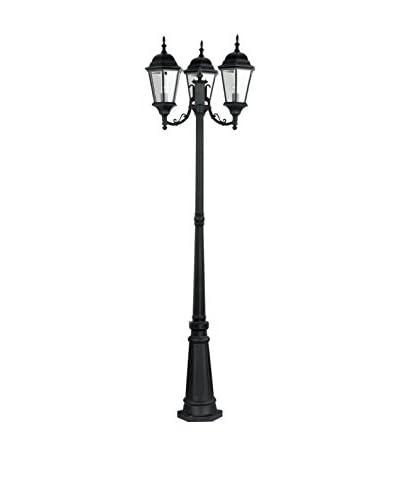 Crestwood Hadley 3-Light Post, Black