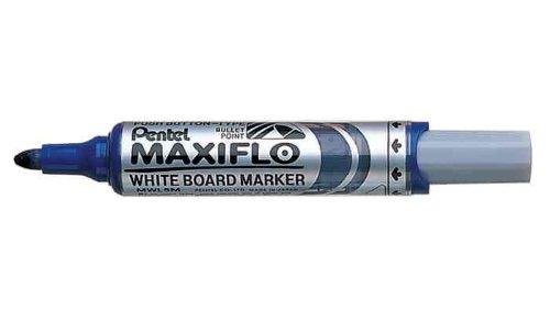 Pentel Lot de 5 Marqueurs pour tableau blanc MAXIFLO MWL5M Bleu