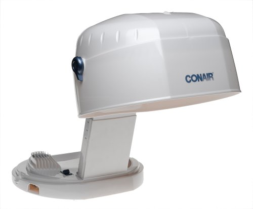 Conair HH400 Collapsable Bonnet 1875-Watt Hair Dryer, White