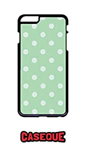 Caseque Polka Dots Green Back Shell Case Cover For Apple iPhone 6 Plus