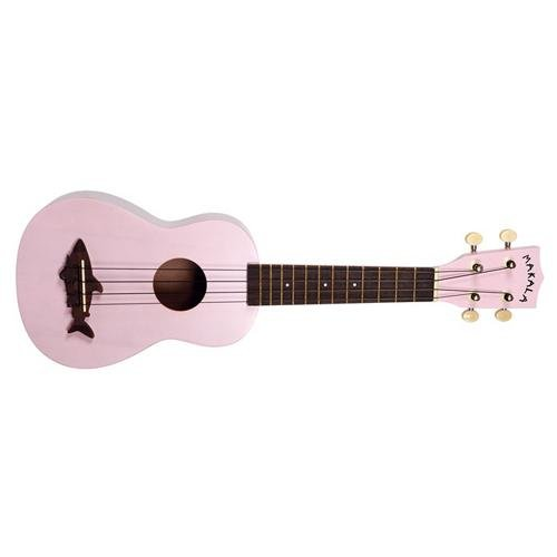 Makala Mk-Ss-Pnk Shark Bridge Soprano Ukulele With Vintage Satin Finish - Shell Pink