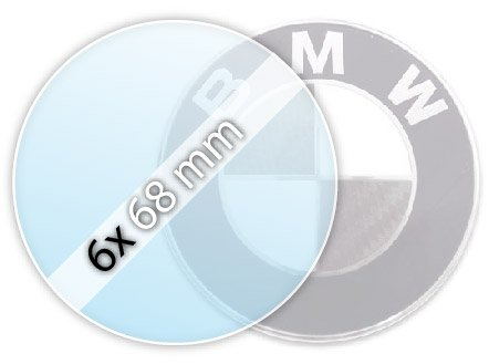 Protective film (6 x 68 mm) for BMW emblems (for alloy rims)