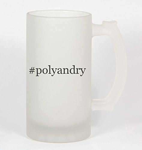 #polyandry - Funny Hashtag 16oz Frosted Glass Beer Stein