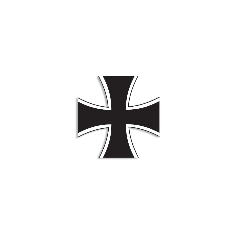 (Black and White) German Iron Cross Sticker