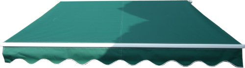 3M x 2.5M Green Retractable Patio Awning Garden Shelter Conservatory Canopy NEW