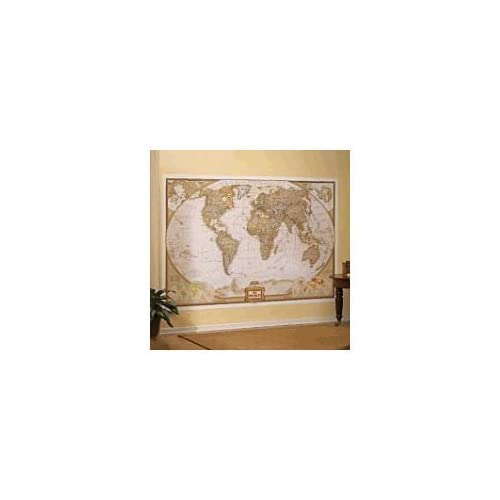Mural world map map type executive wall for Executive world map wall mural