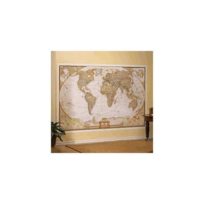 National Geographic World Map Murals.Buy Best National Geographic Executive World Map Wall Mural Kasisoosms
