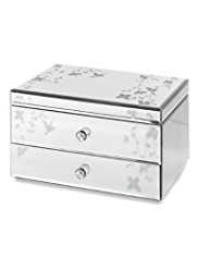 M&S Collection Bird & Floral 2 Drawer Jewellery Box