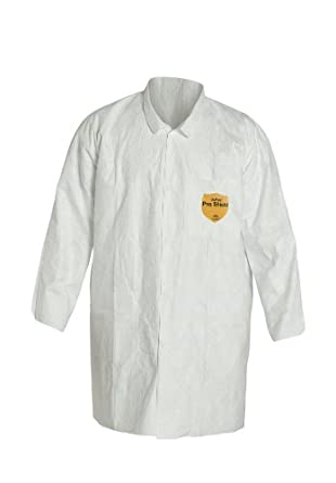 DuPont TY212S Tyvek Lab Coat, Disposable, Open Cuff
