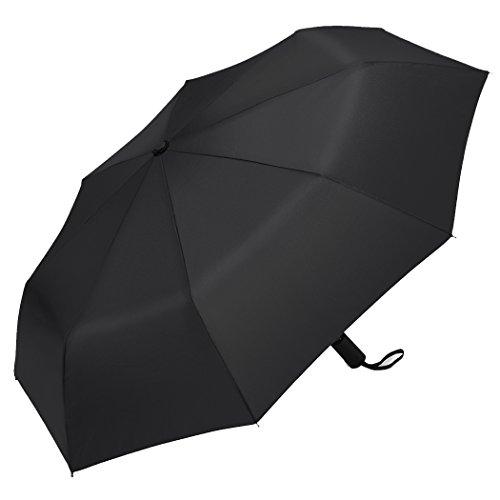 Plemo Premium Regenschirm, Automatik Taschenschirm Herren Schirm mit 94 cm Durchmesser schwarz