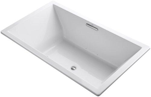 Kohler K-1174-G-0 Underscore 6-Foot Acrylic Bubblemassage Bath, White