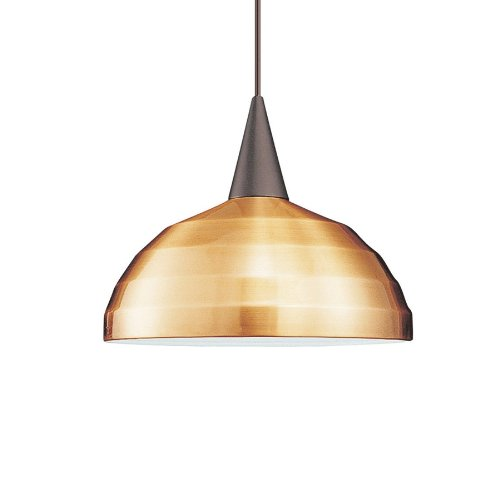 Wac Lighting Pld-F4-404Co/Bk Felis 1-Light Monopoint Pendant With Copper Shade And Black Finish