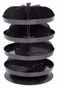 "Storehouse 12"" Revolving Four Tray Bin"