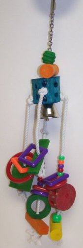 Image of Lucky Bird Toys Bird Toy with Rope B Large (B00061UQQQ)