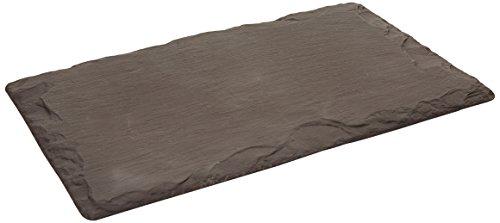 Les plats en ardoise 40 x 25 cm-Assiette/plateau à fromage de Galles Taille M Noir