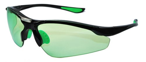 GREENREADER Golf Vision Enhancement Glasses with TR90 Unbreakable Frame BLACK