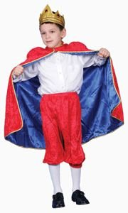 Pretend Deluxe Royal King (Red) Child Costume Dress-Up Set Size 4-6