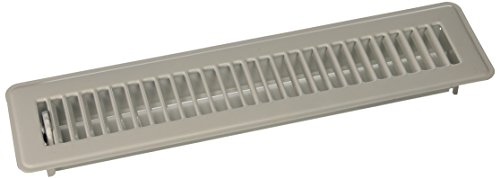 MINTCRAFT FR01-2X14W Floor Register White 2 X14 (Standard Floor Vent Covers compare prices)