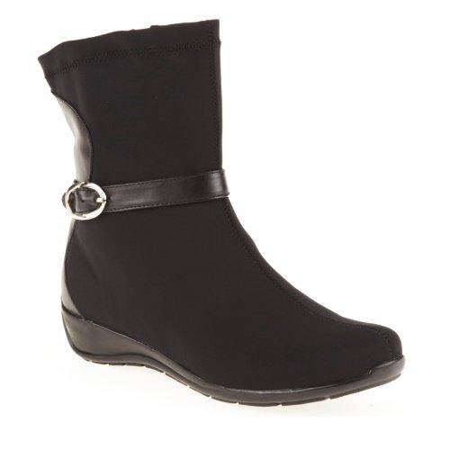 Blondo Women's Paquerette Ankle Boot,Black Waterproof Stretch Fabric/Tucson Trim,7 M US