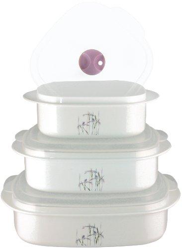 Corelle Coordinates 6-Piece Shadow Iris Microwave Cookware Set (Microwave Set compare prices)