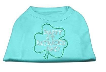 Happy St. Patrick'S Day Rhinestone Shirts Aqua Xl (16) Happy St. Patrick'S Day Rhinestone Shirts Aq