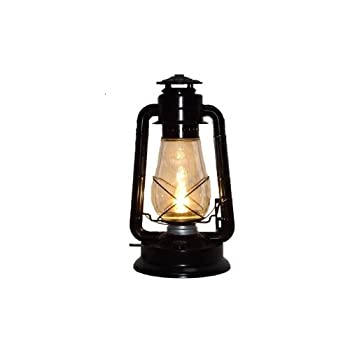 Dietz Blizzard 'Vintage Style' Electric Lantern Table Lamp - Black