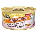 Fancy Feast Mornings Medley - Wild Salmon, Garden Veggies & Egg In Sauce - 24x3oz