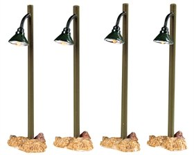 2005-rustic-street-lamps-lighted-village-accessories-set-of-4