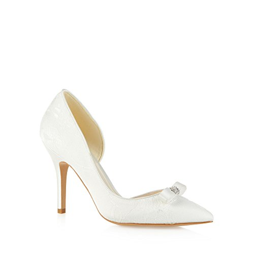 No. 1 <strong>Jenny Packham Womens Designer Ivory Lace Bow Detail High Court <strong>Shoes