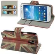 Retro UK Flag Pattern Horizontal Flip Leather Case with Credit Card Slot Holder for Samsung Galaxy S IV mini / i9190