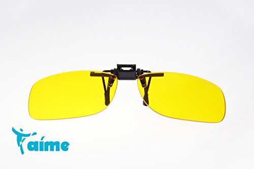 T'aime High Quality Clip on Rimless Eyewear Protection Glasses Block 97% Blue Light 100% UV Intercept Advanced Computer Video Gaming with Amber Lens Tint – TDC1402UN