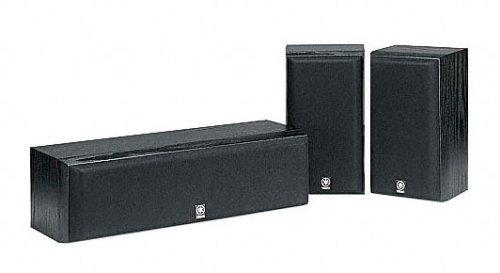 Yamaha NS P 60 - Set di altoparlanti, serie HT, 2 altoparlanti da mensola, 1 altoparlante centrale, colore: nero