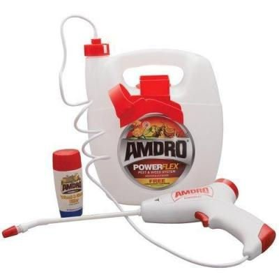 Amdro PowerFlex Weed & Grass Killer System Sprayer w/ Free 4 oz Concentrated Cartridge