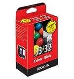 Lexmark Combo Pack #32 + #33 - Print cartridge - 1 x black, colour (cyan, magenta, yellow) - blister