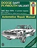 Haynes Dodge Dart and Plymouth Valiant, 1967-1976 (Haynes Manuals)