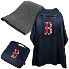 MLB Licensed 3 in 1 Tailgate Seat Poncho and Seat Cushion Set (Boston Red Sox) (Coleman Bleacher Seats With Backs compare prices)