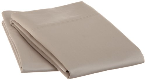 Cotton 1500 Thread Count King Pillowcase Set Solid, Stone back-867749