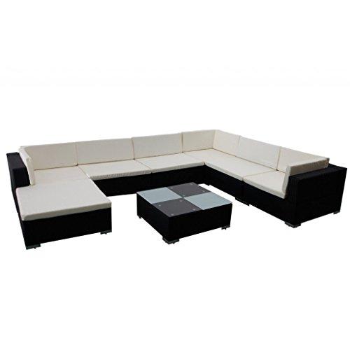 vidaXL Gartenmöbel Poly Rattan Sitzgruppe Lounge Set