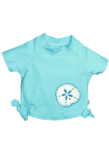 I Play Baby Girls' Tie Rashguard (Baby) - Aqua - Medium (12 Months) back-992489