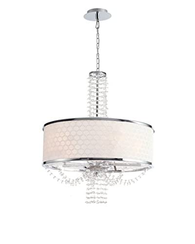 Gold Coast Lighting Allure 5-Light Chrome Drum Shade Chandelier II, Chrome