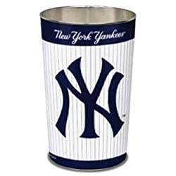 New York Yankees 15 Inch Waste Basket - Pinstripes