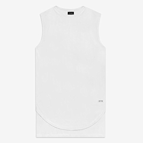 STAMPD スタンプド DOUBLE LAYER MUSCLE TEE 3色 ダブルレイヤー Tシャツ [正規代理店商品] (M, WHITE)