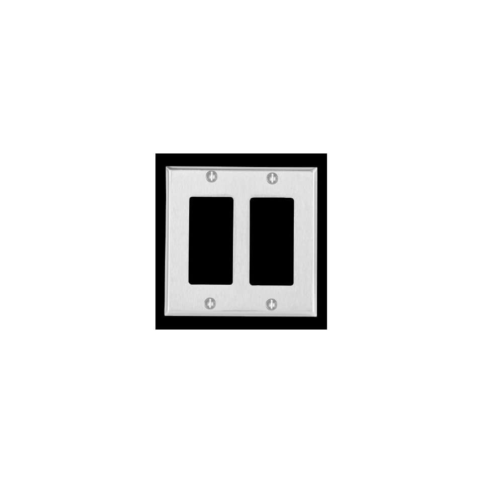 Wall Plates Brushed Stainless Steel, Double GFI Wall Plate  95840