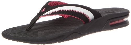 Reef Women's Edge Sandal,Black/White/Hot Pink,10 M US