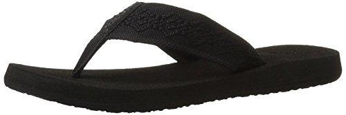 Reef Women's Sandy Flip Flop,Black/Black,9 M
