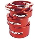 KCNC ヘッドセットパーツ スペーサーセット 3/5/10/14/20MM レッド 506082
