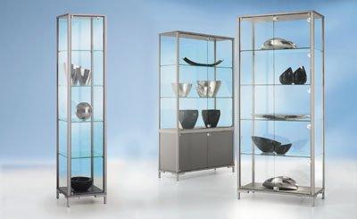 LINK-Staufachvitrine-Verglasung-4-seitig-mit-Unterschrank-HxBxT-1860-x-800-x-400-mm-Glasschrank-Glasschrnke-Glasvitrine-Sortimentskasten-Staufachvitrine-Staufachvitrinen-Vitrine-Vitrinenschrank-Vitrin